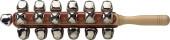 Set of sleigh bells on a stick, 25 bells