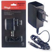 Reverse polarity 9-volt / 1.7 A AC adapter for effect pedals