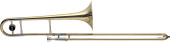 Bb Tenor Trombone, L-bore, Brass body material