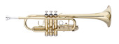 C Trumpet, ML-bore, Brass body material