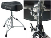 Double braced Professional drum throne, with saddle