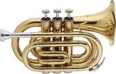 Bb Pocket Trumpet, w/ABS case