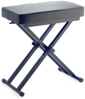 """Keyboard bench with adjustable """"X"""" folding legs"""