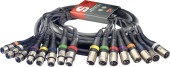 5 m/15 ft. Multicore Cable - 8 x f. XLR/8 x m