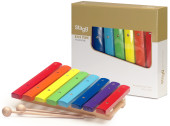 Xylophone with 8 colour-coded keys and two wooden mallets