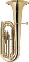 BBb Tuba, 3 top action valves, w/ABS case on wheels