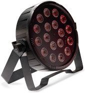 Flat ECOPAR 18 spotlight with 18 x 1-watt RGB (3 in 1) LED