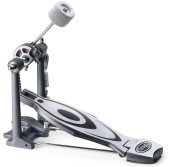 Bassdrum pedal with reinforced beater holder, chain-screw & rim clamp