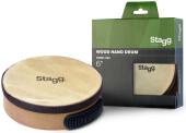 "6"" pre-tuned wooden hand drum"
