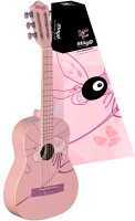 Classical guitar with dragonfly graphic