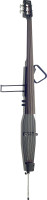 3/4 deluxe electric double bass with gigbag, black