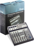 Multi-channel stereo mixer with 2-4 mono, 2 stereo input channels + USB input