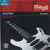 Nickel plated steel set of strings for electric guitar