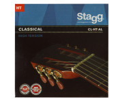 Nylon/ silver plated wound set of strings for classical guitar