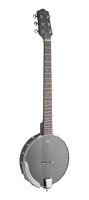 6-String open back guitar banjo with guitar headstock