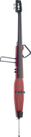 3/4 deluxe electric double bass with gigbag, transparent red