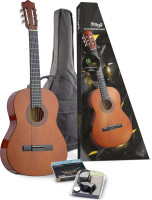 C542 Classical guitar (w/ basswood top) & accessories package