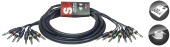 3 m/10 ft. Multicore Cable - 8 x phone-plug/8 x phone-plug