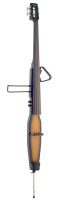 3/4 deluxe electric double bass with gigbag, violin brown