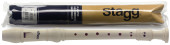 Soprano recorder with baroque fingering, cream beige