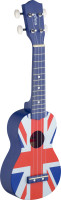 Graphic series traditional soprano ukulele with linden top, with black nylon gigbag