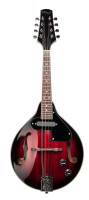 Redburst acoustic-electric bluegrass mandolin with nato top
