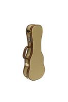 Vintage-style series gold tweed deluxe hardshell case for soprano ukulele