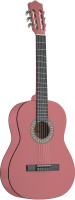 3/4 pink classical guitar with basswood top
