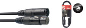 DMX cable, XLR/XLR (m/f) (5 pins), 1.5 m (5')