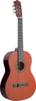 4/4 natural-coloured classical guitar with basswood top