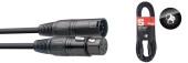 DMX cable, XLR/XLR (m/f) (5 pins), 5 m (16')