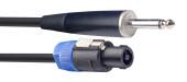Speaker cable, SPK/jack, 10 m (33')