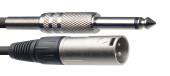 Audio cable, XLR/jack (m/m), 10 m (33')