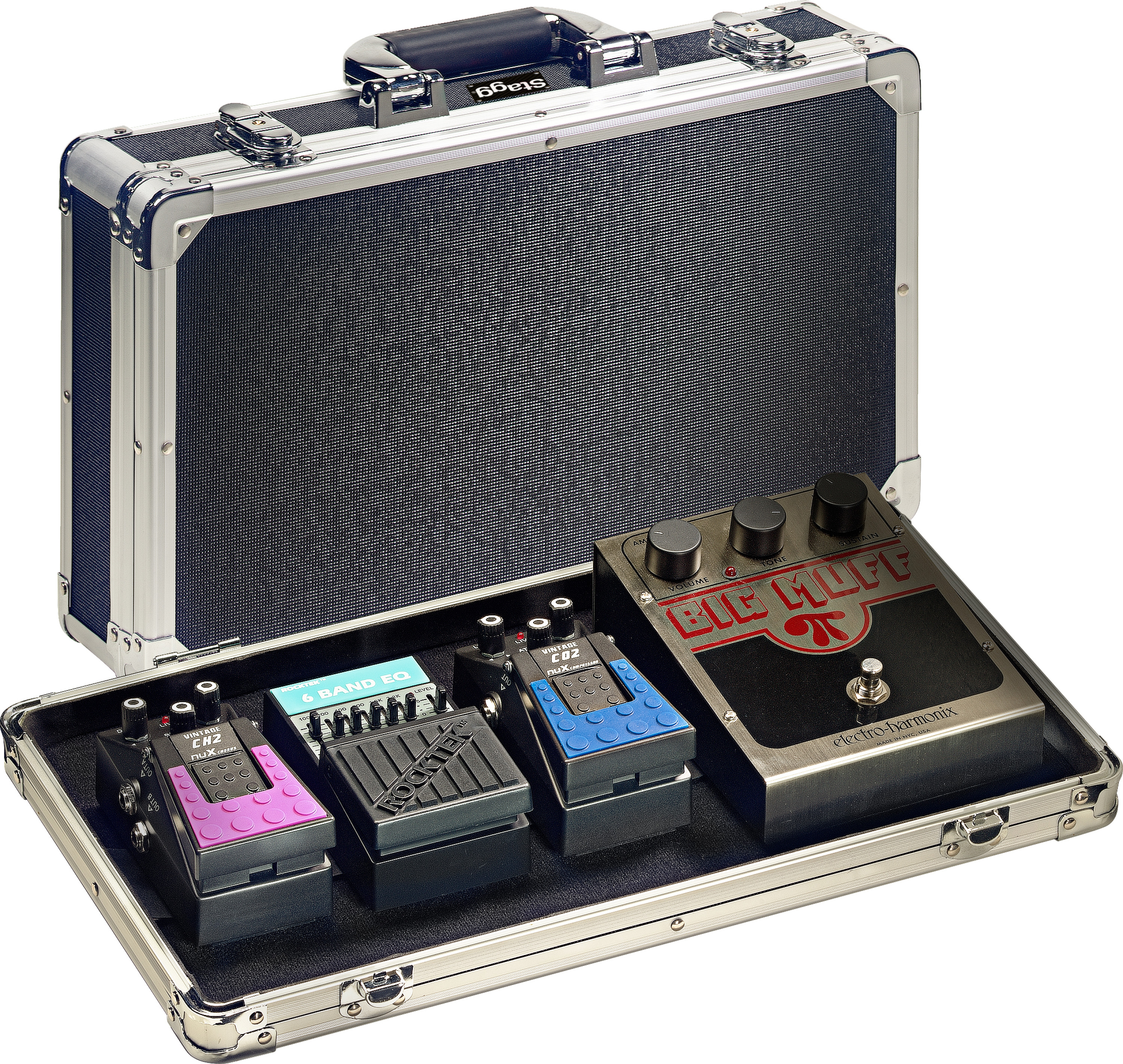 Products Stagg Pedal Efek Gitar Metal Pro Abs Case For Guitar Effect Pedals Not Included
