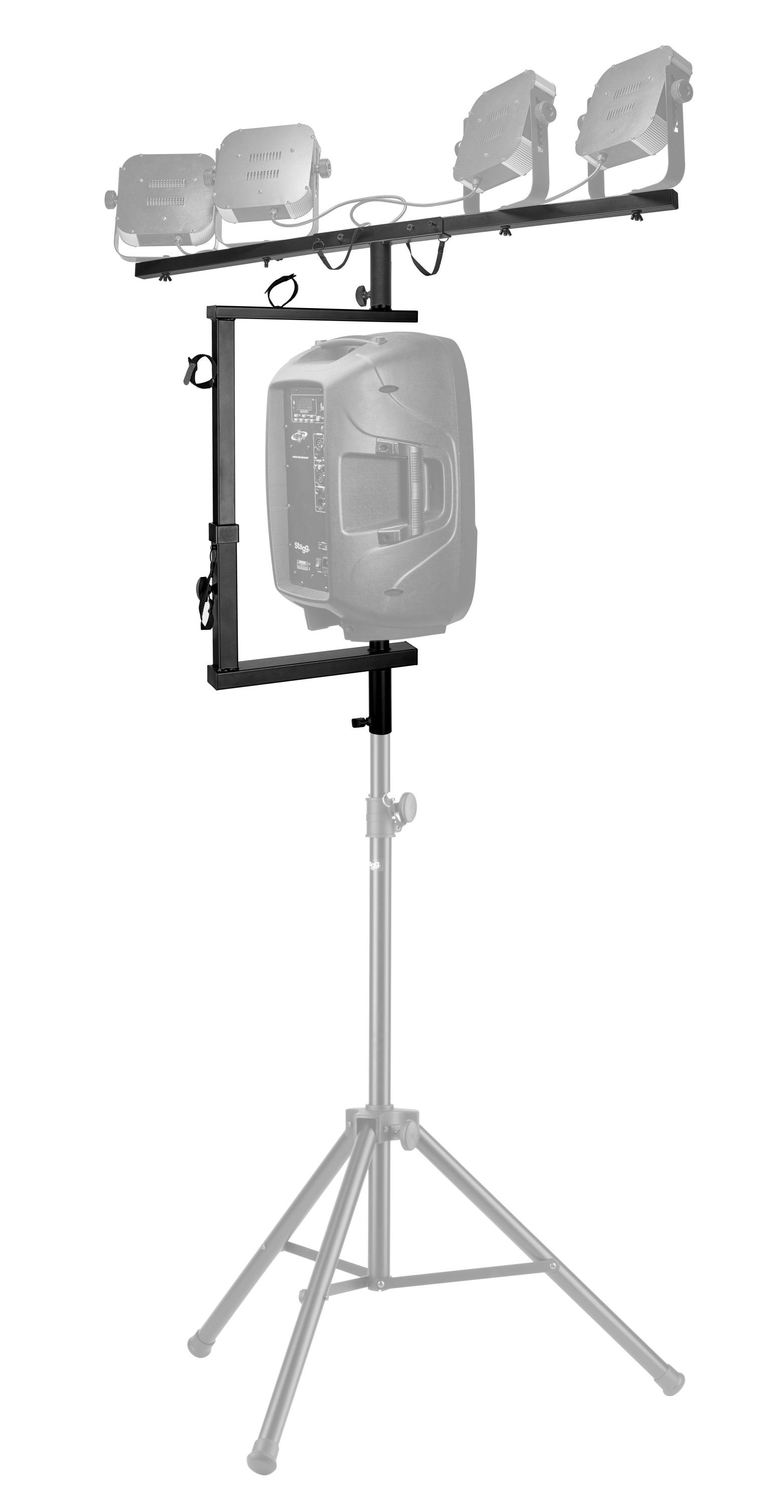 Products stagg t bar lighting extension for speaker stand aloadofball Choice Image