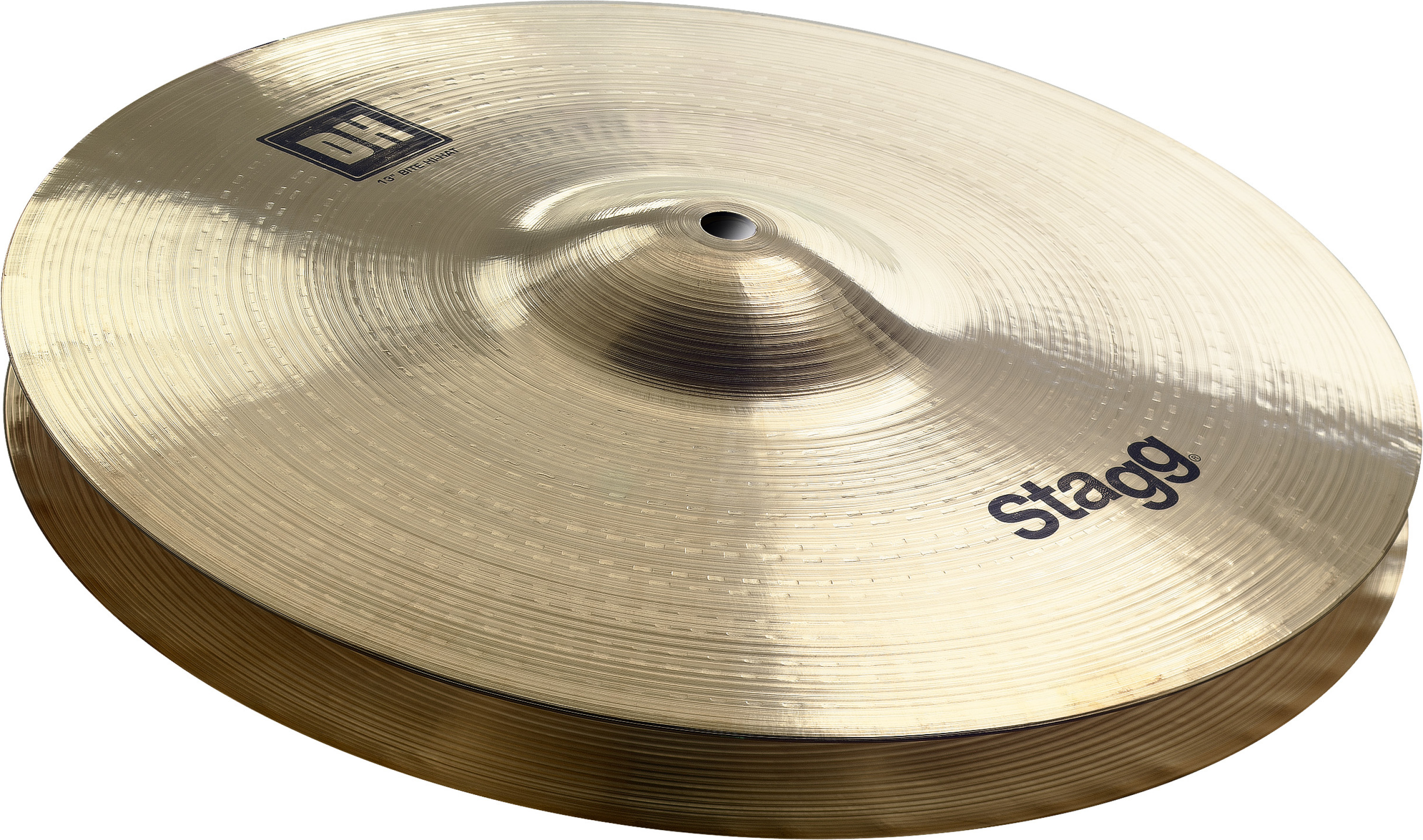 """Stagg 14/"""" DH Double Hammered Medium Hi hat Cymbals DH-HM14B"""