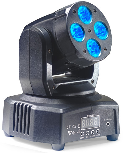 HeadBanger 8 moving head with 4 x 10-watt RGBW LED (Headbanger Mini 8)