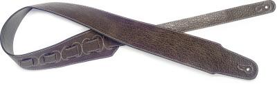 Dark brown leatherette guitar strap