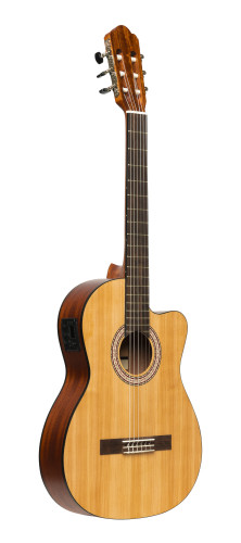 SCL70 classical guitar with spruce top and preamp, natural colour
