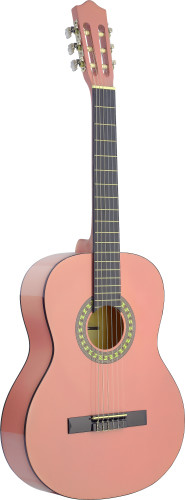 4/4 pink classical guitar with basswood top