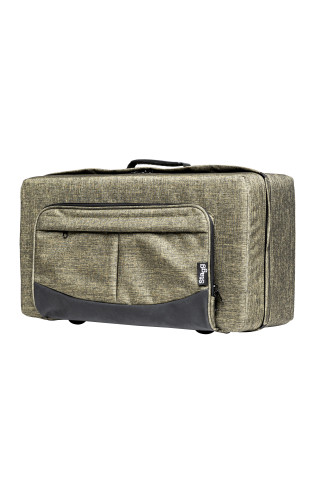 Soft case for trumpet, bright green