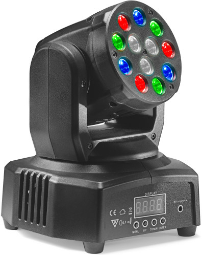 HeadBanger 6 moving head with 12 x 3-watt R/G/B LED (Headbanger Mini 6)