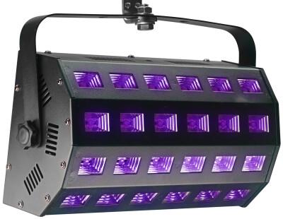 UV Washer, 24 x 3 Watt, 65°, DMX