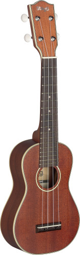 Traditional soprano Ukulele with solid Mahogany-A top, in black nylon gigbag