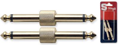 2x Male phone-plug/ male phone-plug adaptor in blister packaging