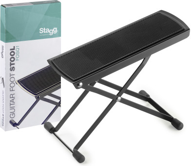 Metal guitar foot stool, foldable, Q series