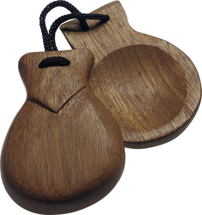Pair of wooden castanets