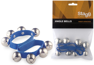 Set of two wrist bells - with four bells each