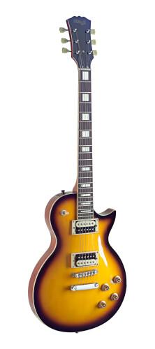 Guitare électrique Zebra, série L, corps: acajou massif, archtop: érable