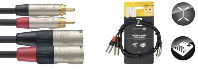 Twin cable, RCA/XLR (m/m), 1.5 m (5'), N-series